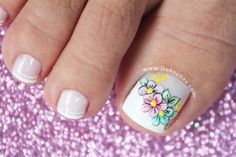Discover recipes, home ideas, style inspiration and other ideas to try. Pretty Pedicures, Pretty Toe Nails, Cute Toe Nails, Toe Nail Art, Love Nails, My Nails, Pretty Nail Designs, Toe Nail Designs, French Pedicure