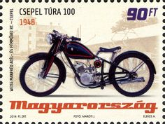 (Hungarian Old-timer Motorcycles - Csepel Tura Postage Stamps, Motorbikes, Transportation, Type Design, Bicycles, Vehicles, Artworks, Design Ideas, Vintage
