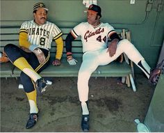 Willie Stargell Pirates and Willie McCovey Giants Alltime Greats Photo Pittsburgh Pirates Baseball, Baseball Star, Pittsburgh Sports, Giants Baseball, Baseball Players, Mlb Players, Baseball Cards, Mlb Uniforms, Baseball Uniforms