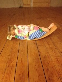 Yet another use for our Waldorf Rocker Board. Napping! From Bella Luna Toys.
