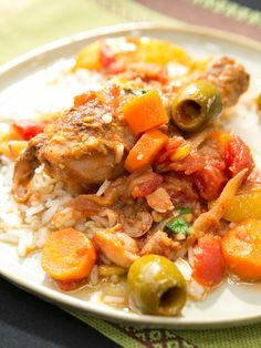 Braised Chicken with Dates, Lemon and Pine Nuts recipe from Geoffrey Zakarian via Food Network