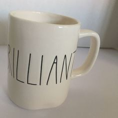 00a59828a14 Rae Dunn BRILLIANT Coffee mug Tea Cup #RaeDunn Clay Mugs, China Dinnerware,  Coffee