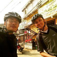 Early Morning Ride with a new friend Kasper to Buddhanilkantha - Tokha - Gongabu - Kakani . Had my first ever downhill experience today.  #downhill #cycling #giant