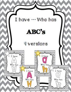I have ... Who has alphabet game: capital and lowercase included.  Color and black and white for each version.  $2.50