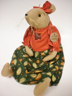 Mouse Doll Autumn Mouse Doll Fall Holiday by PearcesCraftShop