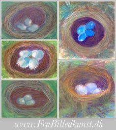 www.FruBilledkunst.dk - bird nest - fuglereder