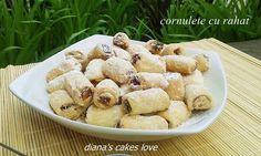 diana's cakes love: Cornulete cu rahat - aluat cu ulei