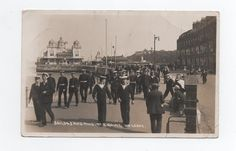 Early photo postcard Navy Sailors Marines on Leave Weymouth  | eBay