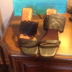 Selling this Pelle Moda Blk sandal in my Poshmark closet! My username is: edwardswife. #shopmycloset #poshmark #fashion #shopping #style #forsale #Pelle Moda #Shoes