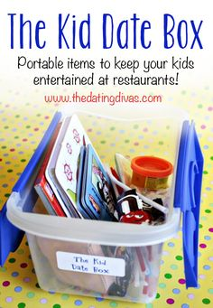 "Love this ""Kid Date Box""- it's perfect if the babysitter bails on you or if you have to take the kids along for whatever reason."