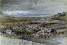 View from the Base of the Brezon above Bonneville (1862-63) by John Ruskin