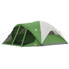 The Coleman Evanston 8 Person Camping Tent has a fully screened front porch area with a floor like the main tent floor. The Evanston camping tent is also available in a size also with a screen porch. Best Tents For Camping, Camping World, Camping And Hiking, Tent Camping, Camping Gear, Outdoor Camping, Outdoor Gear, Camping Equipment, Camping Cabins