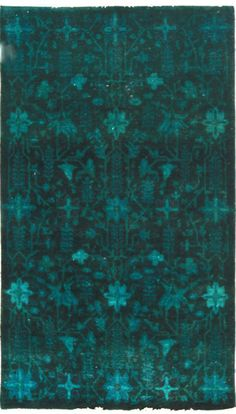 $5 Off when you share! Overdyed OVR62 Teal Rug | Traditional Rugs #RugsUSA