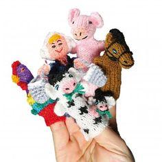 #design3000 Fingerpüppchen-Set Bauernhof to go. Ein Gute-Laune-Paket für die Kleinen – für zuhause & unterwegs.