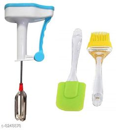 Graters Kitchen tool combo of Plastic Hand Blender with Sillicon Brush & Spatula Kitchen tool combo of Plastic Hand Blender with Sillicon Brush & Spatula Sizes Available: Free Size *Proof of Safe Delivery! Click to know on Safety Standards of Delivery Partners- https://ltl.sh/y_nZrAV3  Catalog Rating: ★3.9 (621)  Catalog Name: Free Gift Stylo Graters CatalogID_1376480 C135-SC1645 Code: 422-8248878-