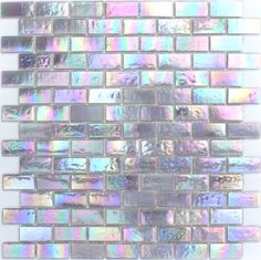Iridescent tiles, at Glass Tiles Specialty (USA)                                                                                                                                                                                 More