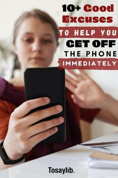 Everyone has experienced that moment at which they needed some excuses to get off the phone immediately, whether it's after getting bored or needing to change between calls.    Here are some of the excuses to get off the phone that you can use, whether you are speaking with a friend, a colleague, your partner, or your parents.    #excusestogetoffphone Say Hi, Say Hello, I Call You, Told You So, Weather Change, Good Excuses, You Mad, Got Off, Feel Tired