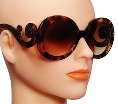 ad2c163c518 Nwt women vintage fashion sunglasses baroque swirl style round frame  gradient lens