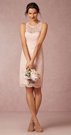 Wedding Dress Lace, Chic Lace Jewel Neckline Knee-length Sheath Bridesmaid Dress, Unique and inexpensive wedding gowns that wow! Shop our wedding dresses online and in-store for top styles and trendy bridal looks. Pinterest Bridesmaid Dresses, Blush Bridesmaid Dresses Short, Bridal Dresses, Short Dresses, Ball Dresses, Ball Gowns, Popular Dresses, The Dress, Dress Lace