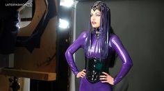 Filming with @kiradawnkrueger #ToxicImaging & #NinaKurzweil MUA wearing a purple catsuit with latex headdress and collar by #latexlegion - #latex #latexfashion #latexmodel #latexfetish #model #rubber #rubberfashion #altmodel #fetishfashion #rubbermodel #rubberfetish #latexfashiontv #LFTV #latexcatsuit #rubbercatsuit #catsuit #purple #cleopatra #fetishmodel #bts #behindthescenes #ringlight #beauty #studio #photoshoot #cosplay #KiraKrueger