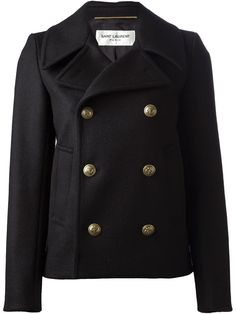 Saint Laurent Classic Peacoat - A.m.r. - Farfetch.com