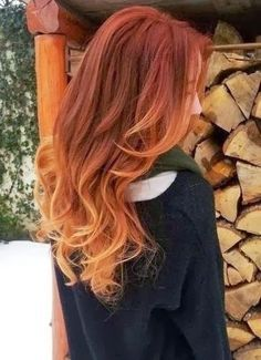 natural red to blonde ombre - Google Search
