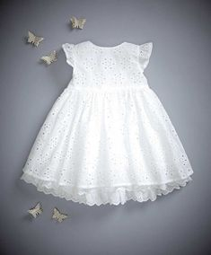 Mamas & Papas - Broderie Anglaise Dress - Welcome To The World -Broderie Anglaise Dress - for sweet baby girlMamas & Papas offer the best quality in prams, pushchairs, car seats, nursery furniture, baby clothing and toys & gifts. Baby Outfits, Little Girl Dresses, Kids Outfits, Flower Girl Dresses, Girls Dresses, Toddler Dress, Baby Dress, Toddler Girl, Baby Girl Fashion