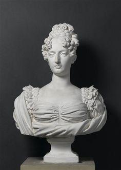 "From Vive la Reine: ""A bust of Marie-Thérèse Charlotte, duchesse d'Angoulême, daughter of Louis XVI and Marie Antoinette by Achille-Joseph-Étienne Valois."""