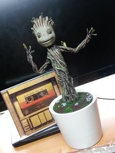 I LOVE it! During thie end shots of the movie I told my husband that I hade to have my own dancing baby Groot! I was positive they'd be matketing them because how could you not love GROOT?!
