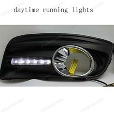 174.17$  Buy here  - For V/W golf 5 2003-2009 1 Pair accessories car-styling Daytime driving running light 2 pcs auto parts led DRL