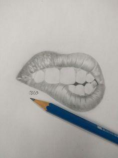 lips/ biting lip