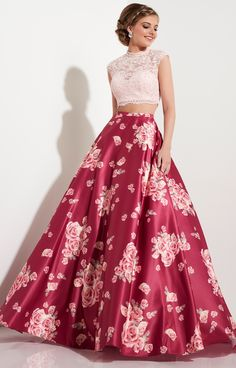 Rose Wine Studio 17 12603 - 2-piece Ball Gowns Cap Sleeves Long Lace Dress $395.98 from http://www.www.emcolours.com #cap #princess #promdress #prom #gowns #sexy #girl #rose #wine #dress #ball #studio #lace #long #sleeves