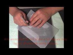 Parchment Craft PCA TP3328E Lattice Arched Windows Demo - YouTube