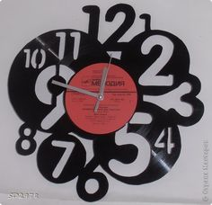 Clock from old record.