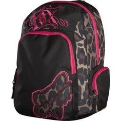 Fox Racing Women's Dirt Vixen Backpack & Clothing Impulse -- need this for riding! I never have anywhere to put things! Backpack Purse, Black Backpack, Fox Racing Clothing, Fox Rider, Fox Girl, Mk Handbags, Puppy Face, Riding Gear, Girl Backpacks