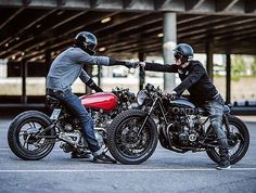 Sweet shot. Tag the owners. . . . #caferacer #hondacb #honda #motorcycle #style…