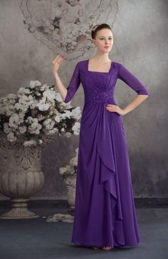Elegant A-Line Homecoming Dresses - Order Link: http://www.thebridalgowns.com/elegant-a-line-homecoming-dresses-tbg6273 - SILHOUETTE: A-Line; SLEEVE: Half Sleeves; LENGTH: Floor Length; FABRIC: Chiffon; EMBELLISHMENTS: Rhinestone , Pleated , Ruching - Price: 140.99USD
