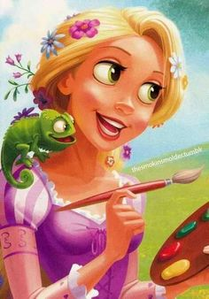 William Silvers Disney Art-Rapunzel