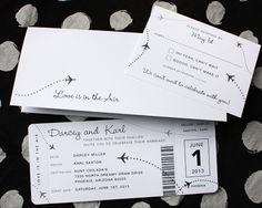 Plane Ticket Wedding Invitation Template - Best Of Plane Ticket Wedding Invitation Template , Black & White Clean & Simple Airplane Ticket Wedding Invitations Airplane Wedding Invitations, Destination Wedding Invitations, Simple Wedding Invitations, Wedding Invitation Templates, Ticket Invitation, Invitation Ideas, Destination Weddings, Aviation Wedding Theme, Wedding Cards