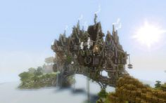Steampunk Minecraft Bridge