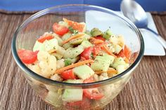 """Italian Style """"Pasta"""" Salad (Low Carb and Gluten Free) 