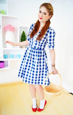 the joy of fashion diy halloween costume dorothy from wizard of oz - Sundrop Halloween Costume