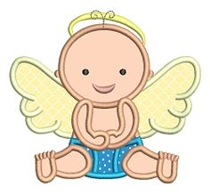 Angel Baby Applique - 2 Sizes! | What's New | Machine Embroidery Designs | SWAKembroidery.com Stitch-Ville