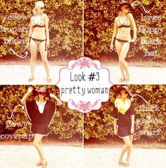 Summer Vacation Essentials. Look 3: Pretty Woman via Blonder Ambitions {www.blonderambitions.com}. fashion. style. bikini. black floppy hat. yellow scarf.