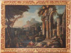 Nachfolge GIOVANNI PAOLO PANNINI (1691 Piacenza-1765 Rom) wohl 18. Jahrhundert Öl auf Leinwand (do