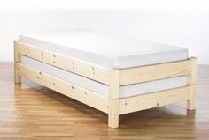 Stacker wooden bed, simple frame. I know I could do this but the other ones look nicer...