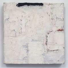 "Robert Ryman: Untitled, 1959. Oil paint on pre-primed stretched cotton canvas, 8-1/4"" x 8-1/4"" (21 cm x 21 cm)."