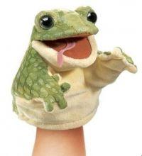 Žabka Little Frog - Malé bábky Stage Puppets - Plyšové bábky Folkmanis - Bábkové divadlo - Hračky pre deti - Hračky a Detský nábytok- Detský Sen - Maxus