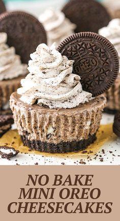 No Bake Mini Oreo Cheesecakes | Easy Mini Cheesecakes!