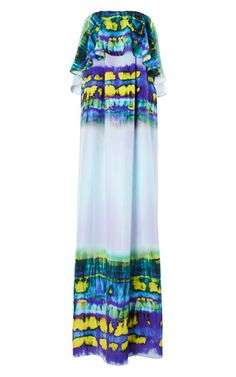 Tie Dye Crepe De Chine Maxi Dress by MSGM for Preorder on Moda Operandi